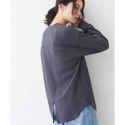 tシャツ Tシャツ リブ風ジャガードプルオーバー*