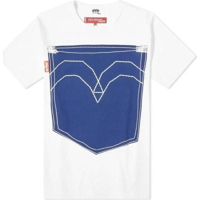 ジュンヤ ワタナベ Junya Watanabe MAN メンズ Tシャツ ポケット リーバイス トップス x Levi's Pocket Tee White/Indigo