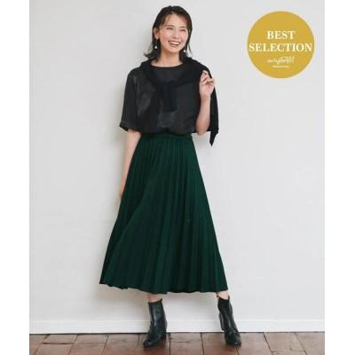 any FAM / 【定番人気・親子でお揃い】ウーリッシュフラノ プリーツスカート WOMEN スカート > スカート