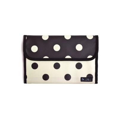 マルチケース/母子手帳ケース (ジャバラタイプ) polka dot large(twill・white) (母子手帳カバー 赤ちゃん ベビー 出産祝い)