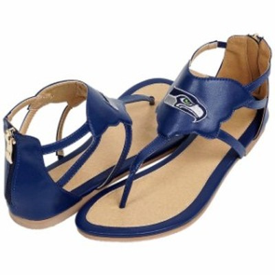 Cuce クーチェ シューズ サンダル Cuce Seattle Seahawks Womens College Navy Gladiator Sandals