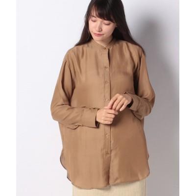 (Te chichi/テチチ)【Techichi】バンドカラーシアーチュニックシャツ LS/レディース キャメル