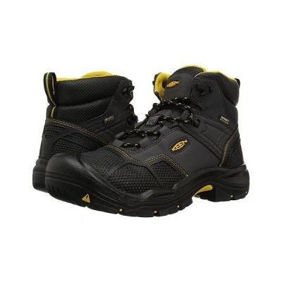 Keen Utility キーン メンズ 男性用 シューズ 靴 ブーツ 安全靴 ワーカーブーツ Logandale Waterproof Steel Toe - Raven/Black