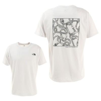 ノースフェイスウェアCARABINER 半袖Tシャツ NT32084 Wホワイト