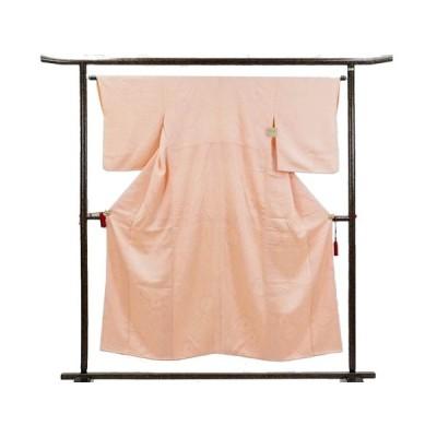 リサイクル着物 小紋 正絹薄ピンク地絞り袷小紋着物