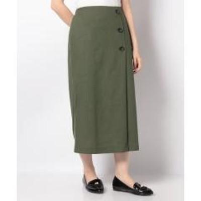 テチチ【Lugnoncure】リサイクルリネン釦付タイトスカート