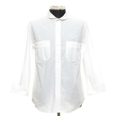 エディフィス 417 EDIFICE タイプライターマリンワークシャツ 七分袖 サイズM 16051312500010 中古 古着