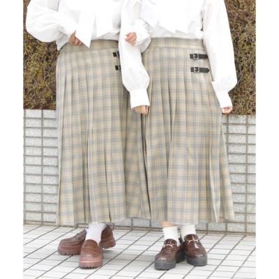 スカート チェックキルトスカート