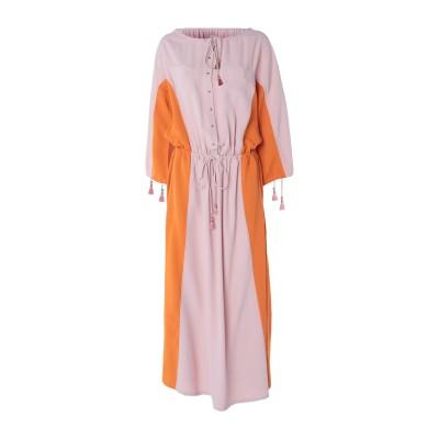 ジャストカヴァリ JUST CAVALLI ロングワンピース&ドレス ローズピンク 40 レーヨン 100% ロングワンピース&ドレス