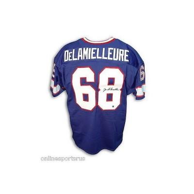 フットボール NFLアメリカン ウェア ユニフォーム アスレティック ニット Joe Delamielleure Autographed Throwback Jersey Buffalo Bills