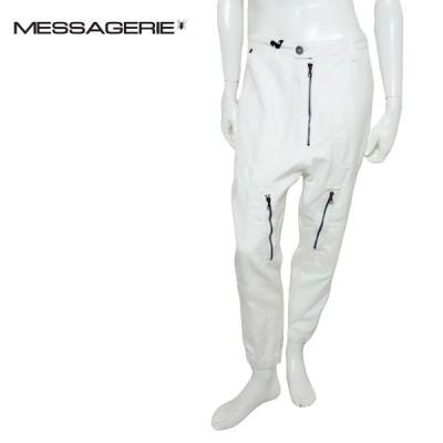 MESSAGERIE メッサジェリエ サルエルパンツ メンズ 710951264052 ホワイト ジョガーパンツ ワークパンツ クロップド丈