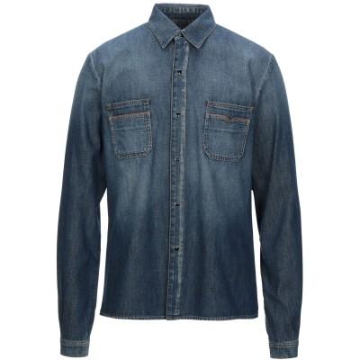 SAINT LAURENT デニムシャツ ブルー S コットン 100% / ポリウレタン / ナイロン デニムシャツ