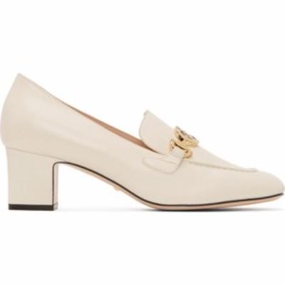 グッチ Gucci レディース ローファー・オックスフォード シューズ・靴 White Zumi Mid-Heel Loafers White