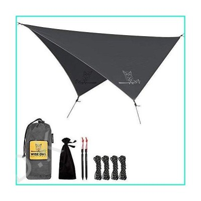Wise Owl Outfitters Rain Fly Tarp ? The WiseFly Premium 11 x 9 ft Waterproof Camping Shelter Canopy ? Lightweight Easy Setup for Hammock