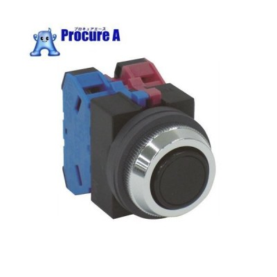 IDEC 平形押しボタンスイッチ 黒 ABS111NB  ▼128-6008 IDEC(株)
