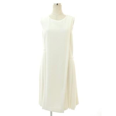 フォクシーニューヨーク collection ワンピース 35639 Stretch Suiting Pleat Dress ノースリーブ 40