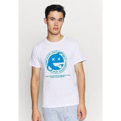 ジャック アンド ジョーンズ Tシャツ メンズ トップス JOREXPLORING TEE CREW NECK - Print T-shirt - white