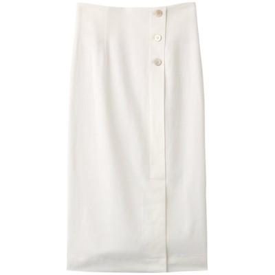 martinique マルティニーク ラップライクタイトスカート レディース ホワイト 2