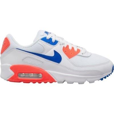 ナイキ スニーカー シューズ レディース Nike Women's Air Max 90 Shoes Wht/RcerBlu/FlashCrmsn