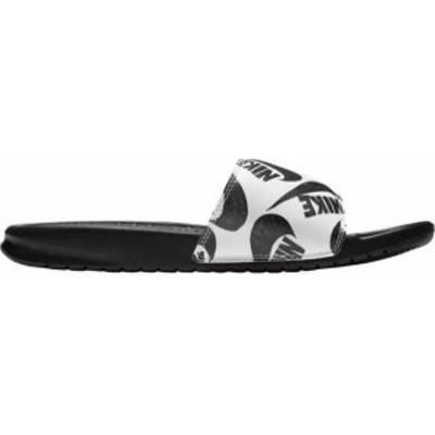 ナイキ メンズ サンダル シューズ Nike Men's Benassi Print Slides Black/Black/White
