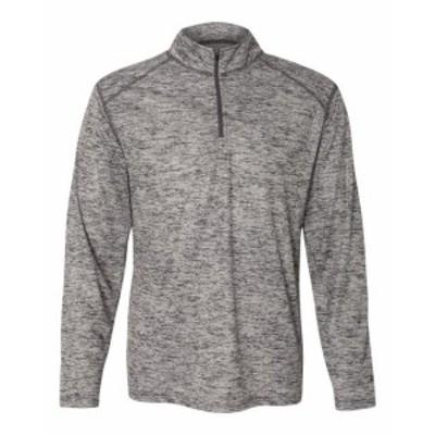 ファッション トップス Badger Mens Tonal Blend Quarter-Zip Pullover T-Shirt 4172 S-3XL