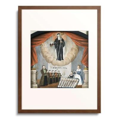作者不明 Anonymous 「Votive image to the honor of St Walburga. Family with twelve children eight died in the childbed.」