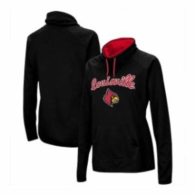 Stadium Athletic スタジアム アスレティック スポーツ用品  Louisville Cardinals Womens Black Funnel Neck Pullove