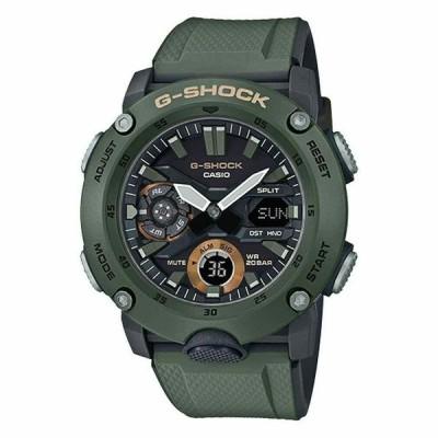 カシオ 腕時計 Casio メンズ G-Shock Ana-Digi Olive Green Carbon Core コア Guard Watch GA2000-3A