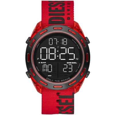 ディーゼル DIESEL 腕時計 レッド ステンレススチール / ナイロン 腕時計