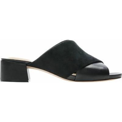 クラークス レディース サンダル シューズ Sheer35 Slide Black Combination Leather/Suede