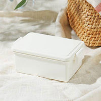 三好製作所弁当箱 フタが保冷剤になるランチボックス 400ml ホワイト 1段 ロハコ(LOHACO)オリジナル
