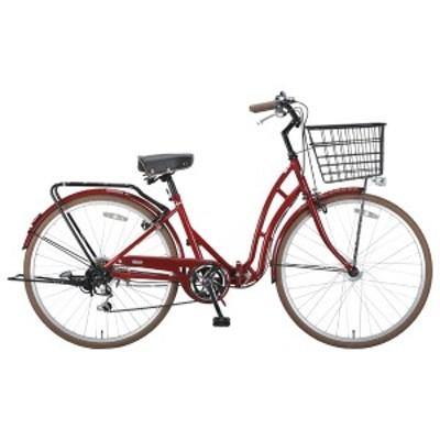 キャプテンスタッグ YG-0217 折りたたみ自転車 26インチ 6段変速(エンジ)CAPTAIN STAG Valley(バレイ)FDB266[YG217]【返品種別B】