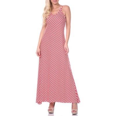 ホワイトマーク レディース ワンピース トップス Open Back Maxi Dress