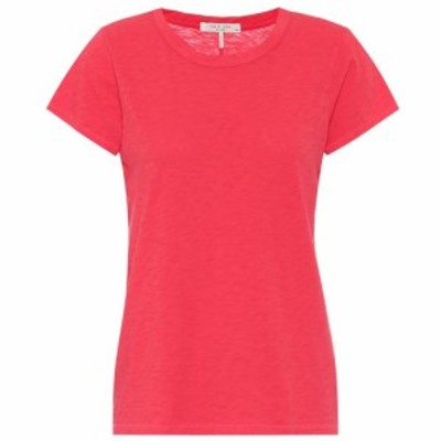 ラグandボーン Rag and Bone レディース Tシャツ トップス The Tee cotton T-shirt Bright Coral