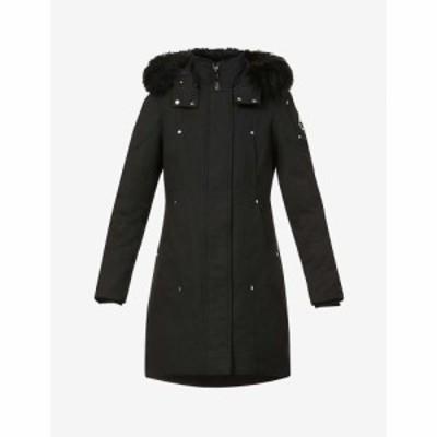 ムースナックル MOOSE KNUCKLES レディース コート アウター Stirling padded cotton-blend coat Blk/Blk Shearling
