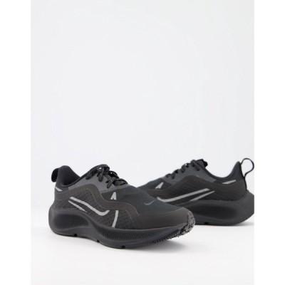 ナイキ Nike Running レディース スニーカー エアズーム シューズ・靴 Air Zoom Pegasus 37 Shield trainers in black ブラック
