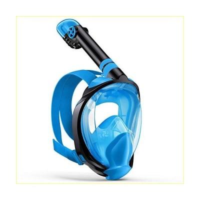 Zenoplige Full Face Snorkel Mask, Diving Mask Premium Innovative Safety Breathing System, 180 Panoramic Foldable Anti Fog Anti Leak Swimming