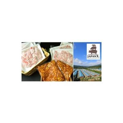 ふるさと納税 牧場直送JAPAN X 豚小間&ホルモン/計2.4kg 宮城県蔵王町