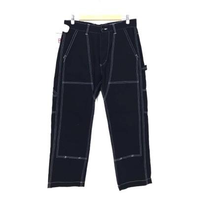 ストロングホールド STRONG HOLD DOUBLE KNEE PANTS ダブルニーワークパンツ メンズ 34-35 中古 古着 210609