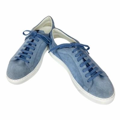 【未使用美品】Dunhill ダンヒル スニーカー 靴 シューズ スエード ライトブルー [サイズ 42 (約27cm)]