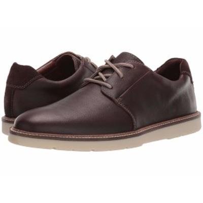 クラークス メンズ ドレスシューズ シューズ Grandin Plain Dark Brown Tumbled Leather