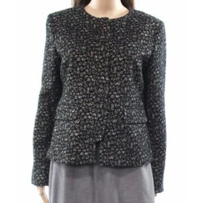 ファッション 衣類 Charles Gray London NEW Black Womens Size Large L Metallic Jacket