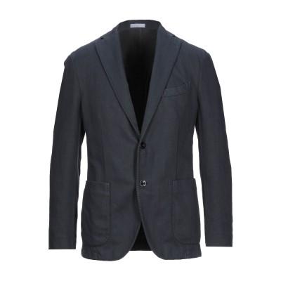 ボリオリ BOGLIOLI テーラードジャケット ダークブルー 52 コットン 64% / リネン 36% テーラードジャケット
