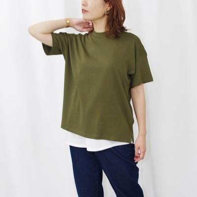 Tシャツ レディース ファッション 30代 40代 半袖 トップス カットソー ハイネック ボトルネック シンプル カジュアル 綿100% 春 夏 プチプラ