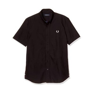 [フレッドペリー] 半袖シャツ TEXTURE MIX SHIRT M8662 メンズ 102_BLACK UK S (日本サイズM相当)