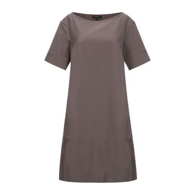 ANTONELLI ミニワンピース&ドレス カーキ 40 コットン 80% / ナイロン 16% / ポリウレタン 4% ミニワンピース&ドレス