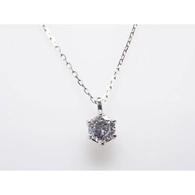 1粒ダイヤ 0.185ct F SI2 GOOD PT製 ダイヤモンドペンダント