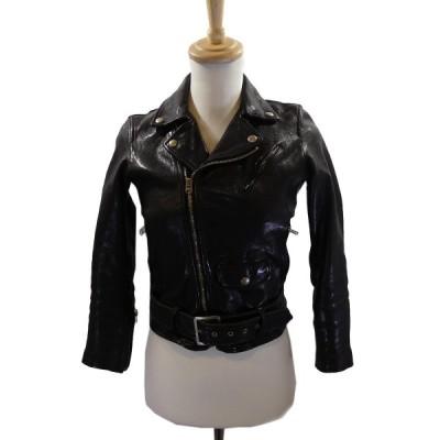 beautiful people shrink leather riders jacket  ライダースジャケット ブラック サイズ:140 (南船場