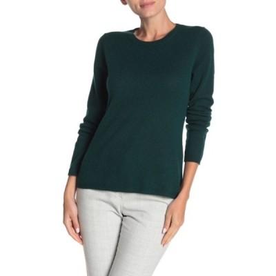 キャサリンマランドリーノ レディース ニット&セーター アウター Cashmere Crew Neck Pullover Sweater GREEN PINE