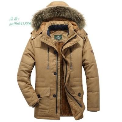 4色 メンズ 中綿ジャケット 防寒 中綿コート フェイクファー モッズコート フード取り外せ可能 厚手 モッズコート L お兄系 冬物 裏起毛